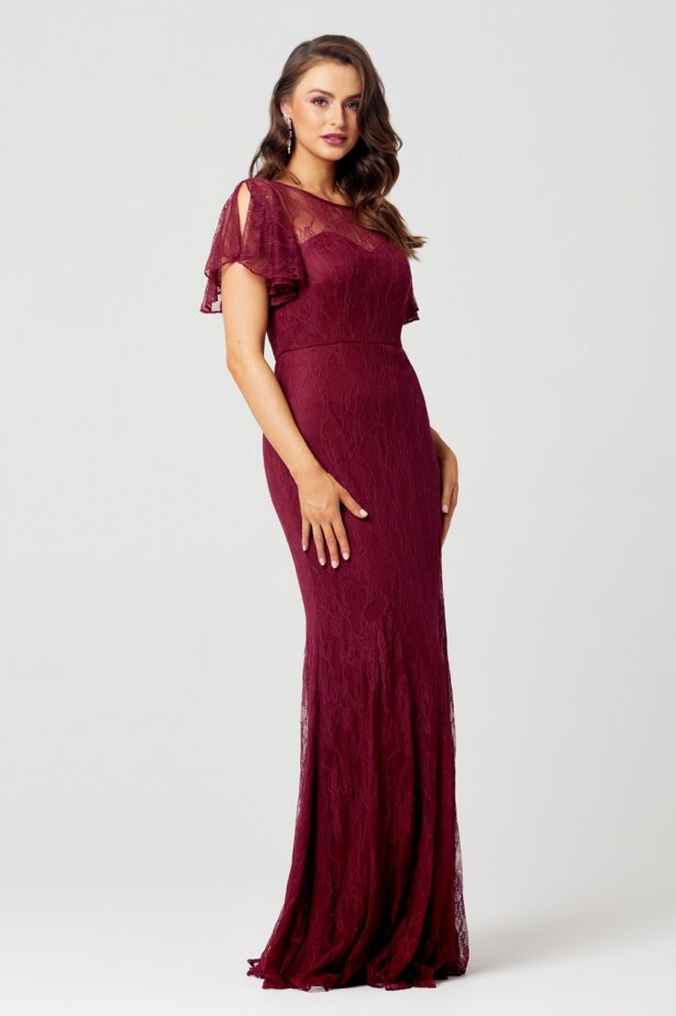 Harper Bridesmaid Dress - TO66 - wine