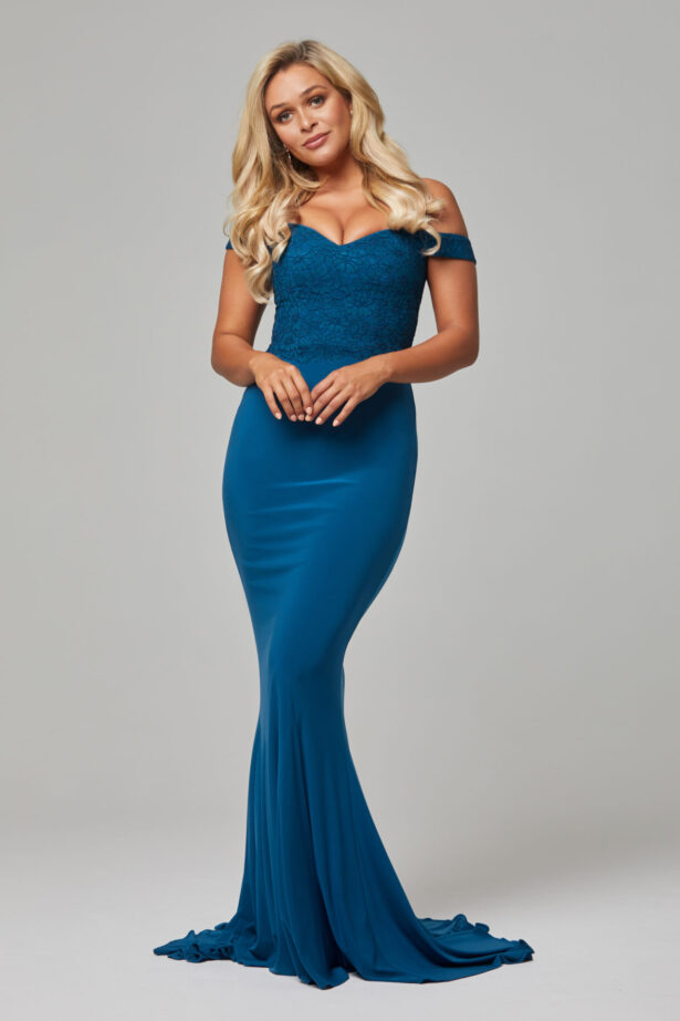TO778 Teal Jaqulyn dress