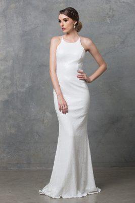 po70s sadie sequin vintage white front