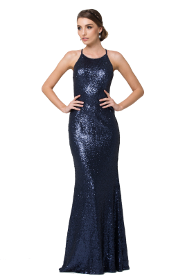 po70s sadie sequin navy