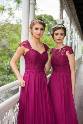 Willow Bridesmaid Dress - TO34 - Berry