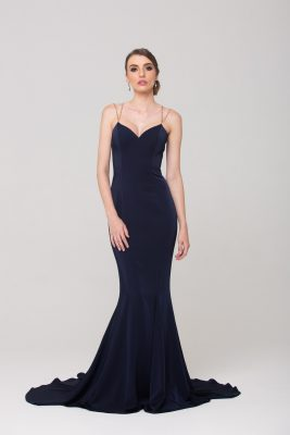 Bree Formal dress PO593 Navy with straps