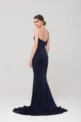 Bree formal dress PO593 Navy back with straps