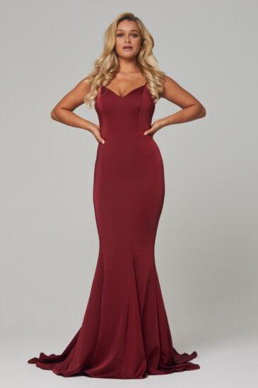 PO593 Wine Bree dress