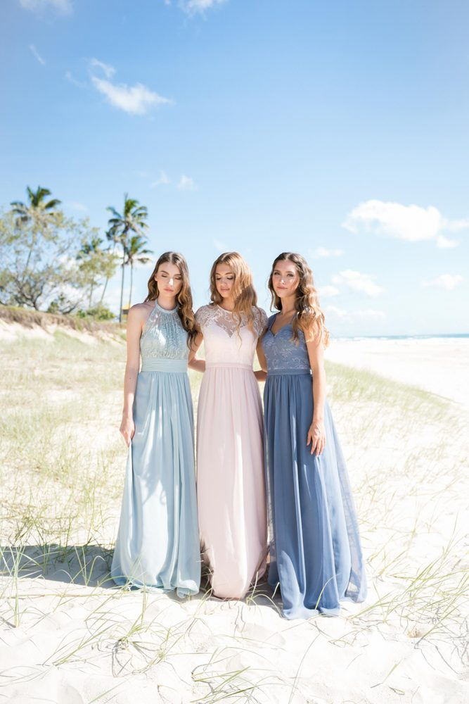 PO33 HARLOW POWDER BLUE TO37 CAMILLA PINK TO57 PHOEBE DUSTY BLUE BEACH