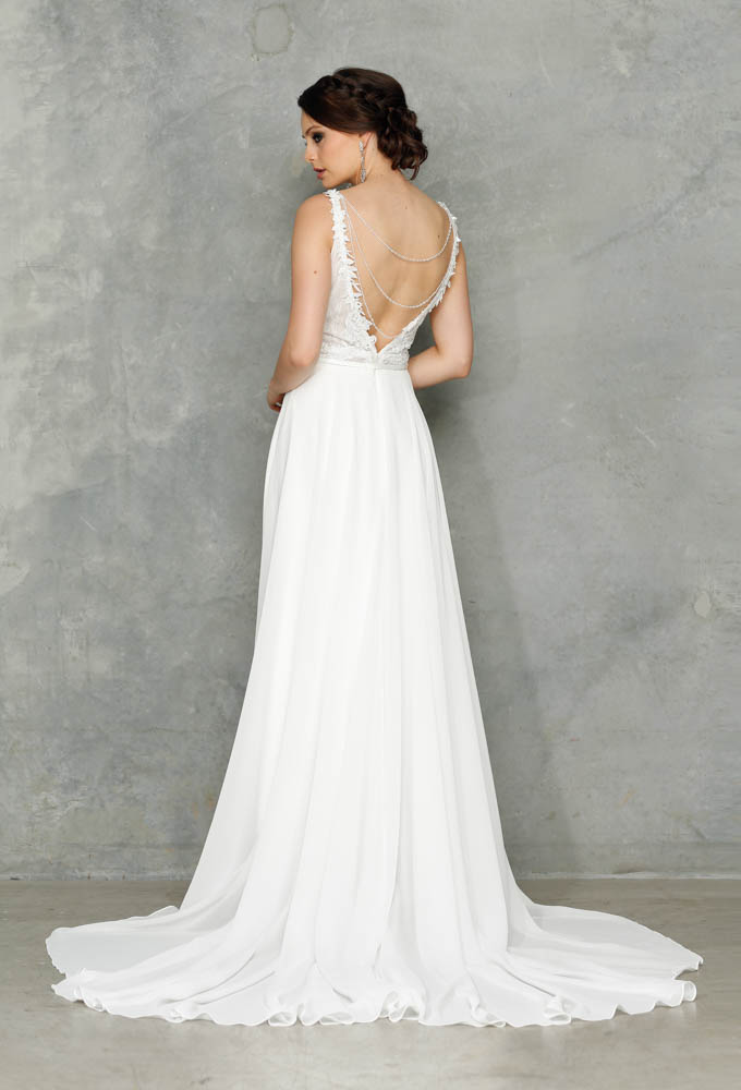 Chanel Beaded Georgette Luxe Bridal Collection Tania