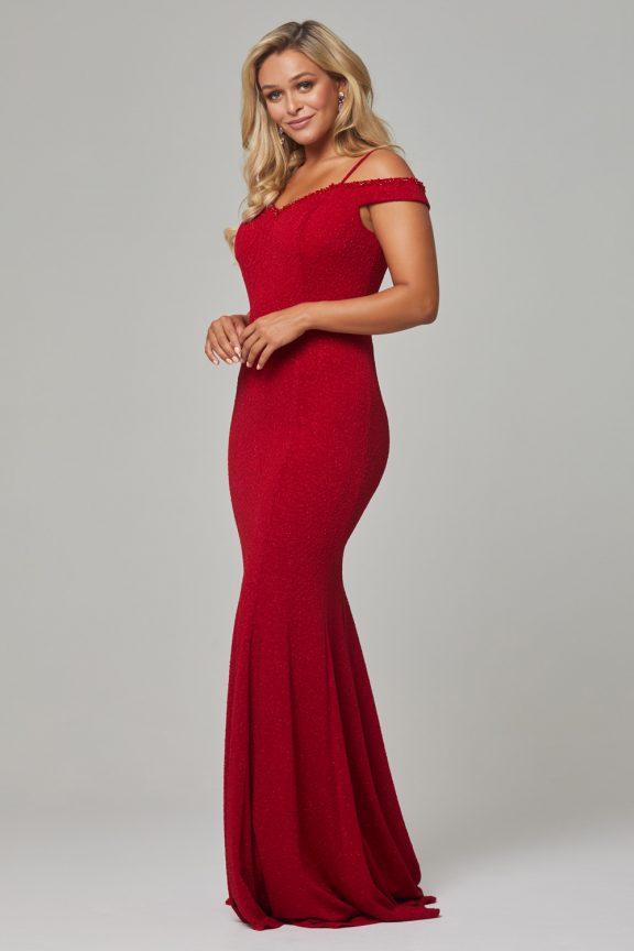 PO590 Red Alicia dress side