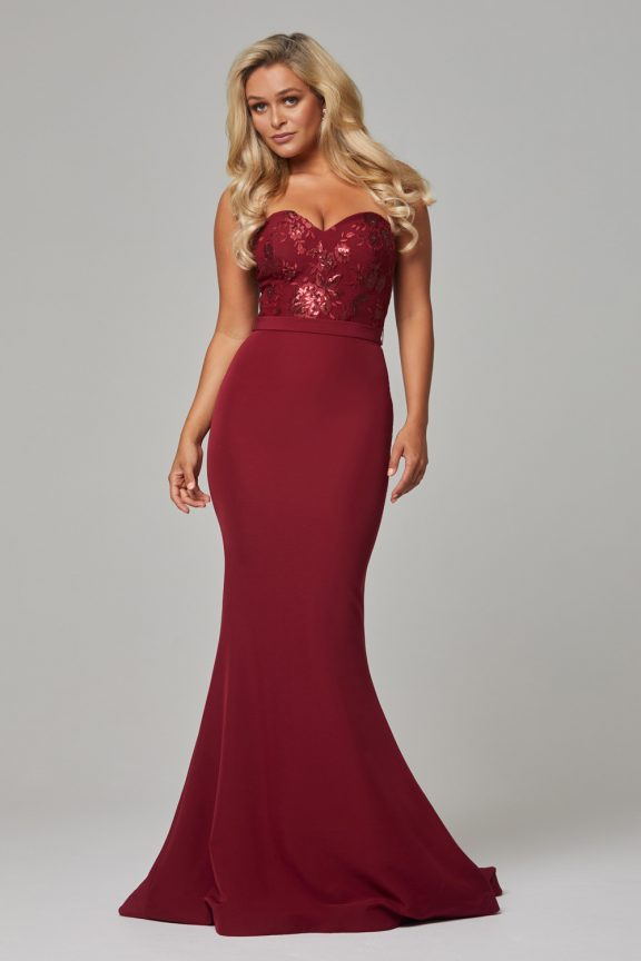 PO587 Wine Paloma dress