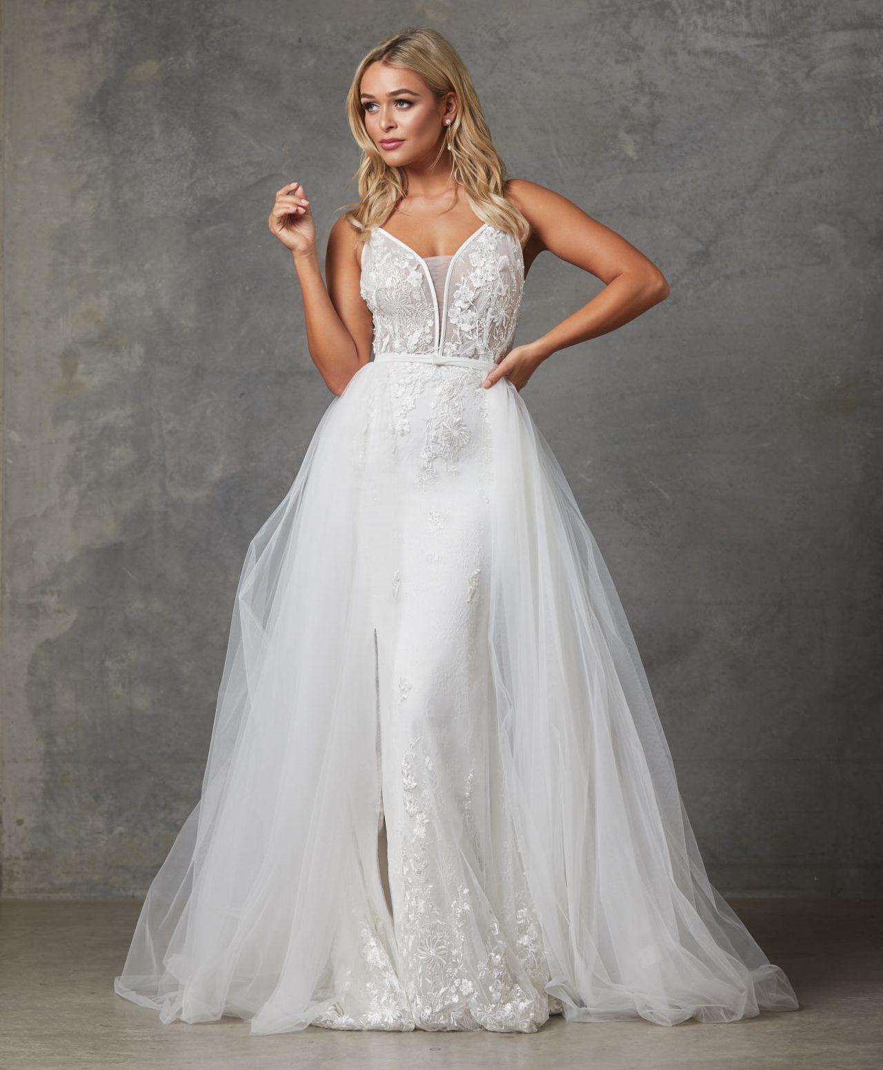Detachable Wedding Dress.Detachable Skirt