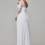 TO802 Pure white Vallaris dress back