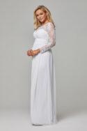 TO802 Pure white Vallaris dress side 1