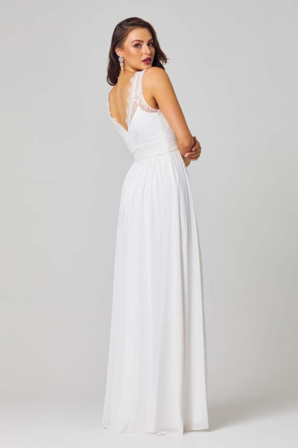 Taliyah Bridesmaid Dress - TO811 Vintage White Side 1 1