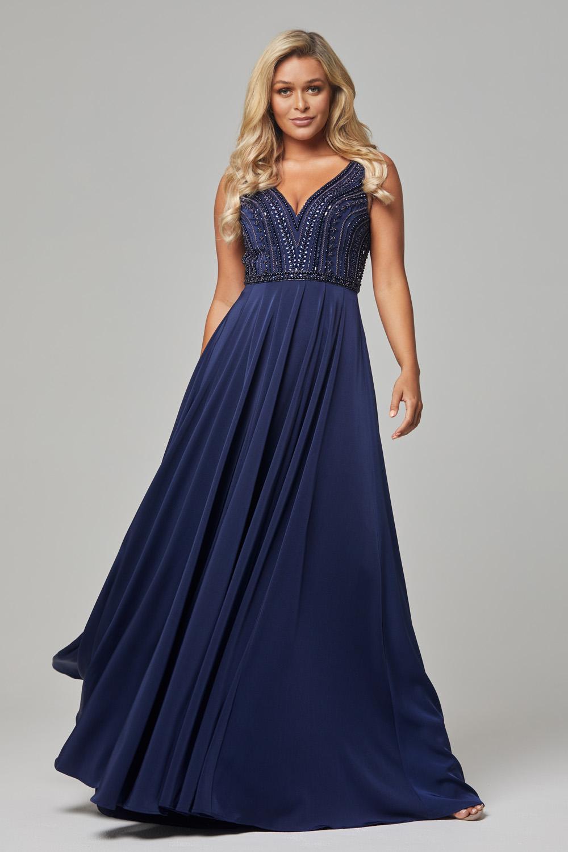 PO592 Navy Addilyn evening dress