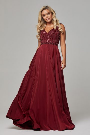 PO592 Wine Addilyn dress 1