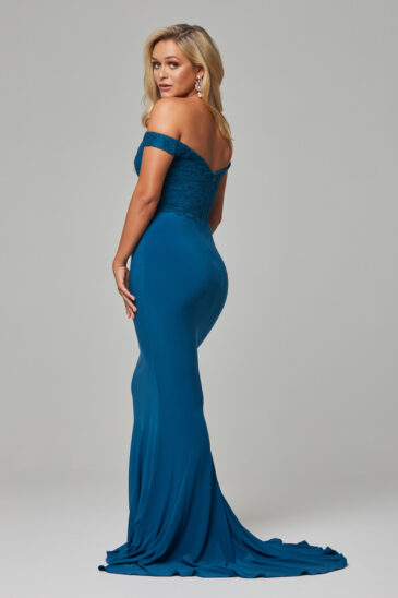 TO778 Teal Jaqulyn dress back