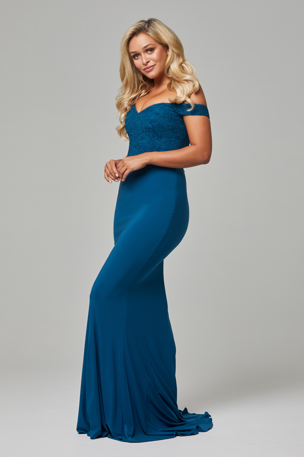 TO778 Teal Jaqulyn dress side