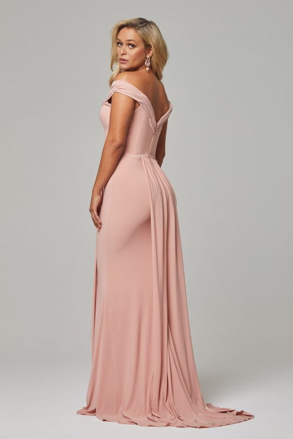 TO779 Blush Malissa dress back 1