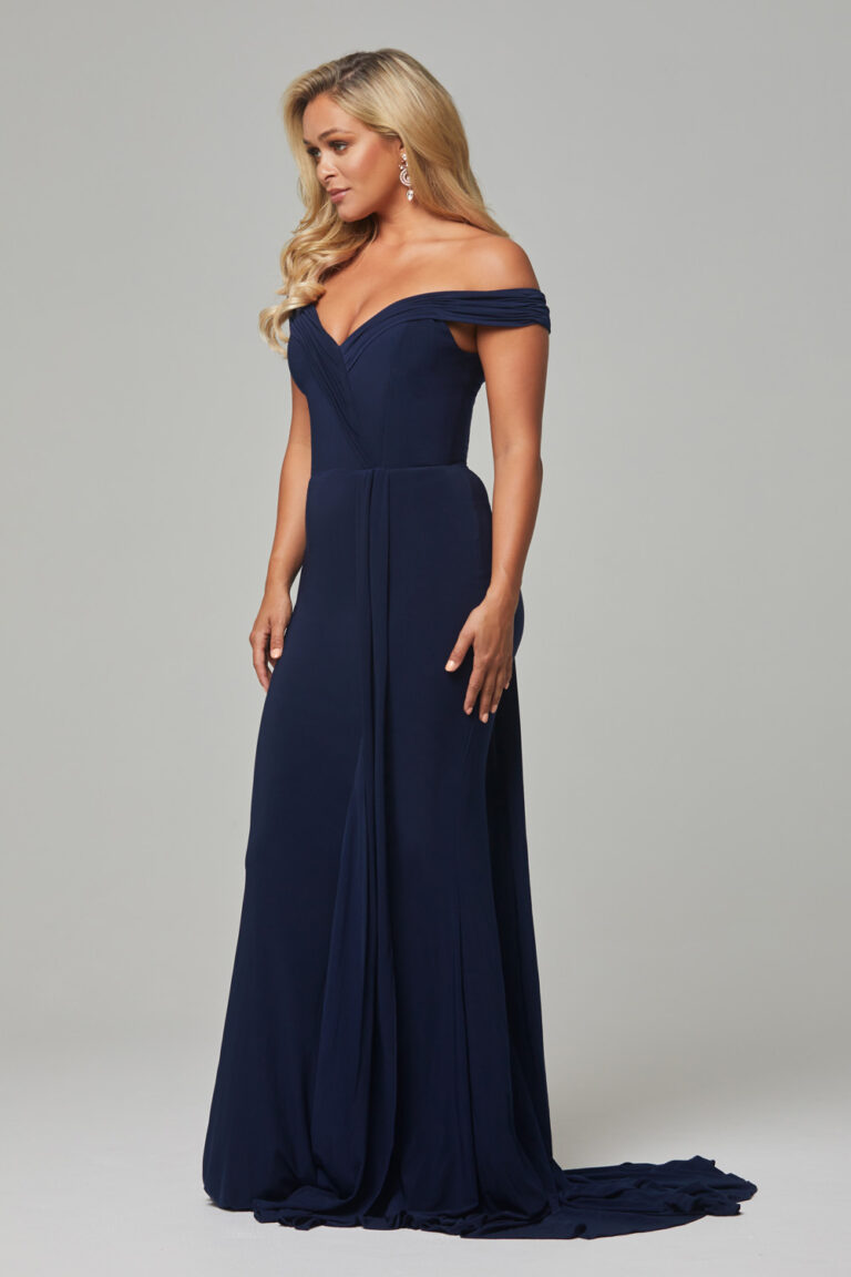 TO779 Navy Malissa dress side