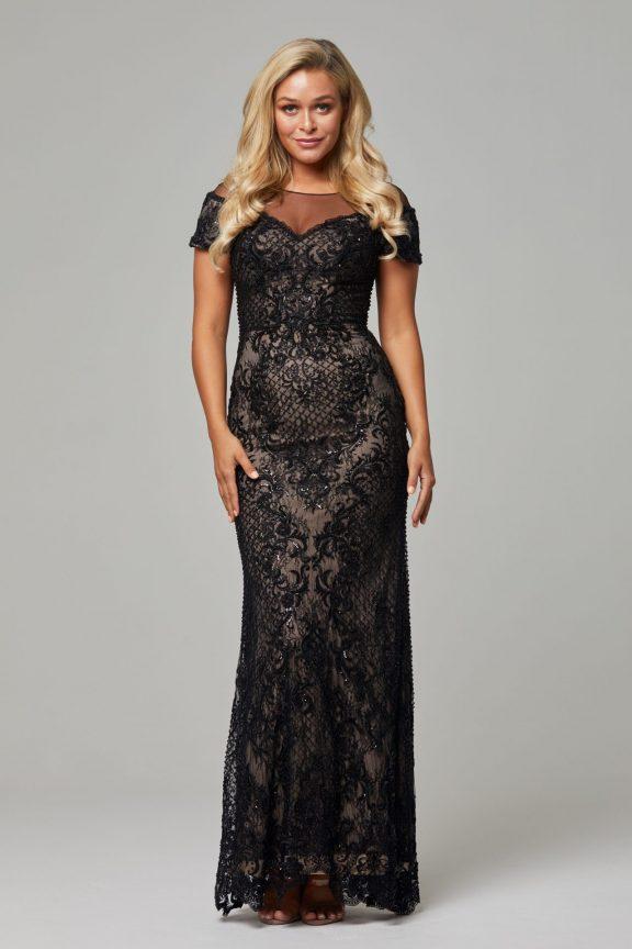 TC228 Black nude Evie dress 1