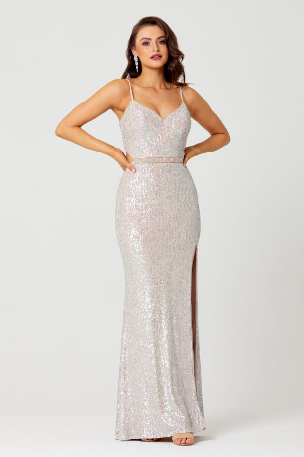 Jasmine Sequin Formal Dress Front PO853