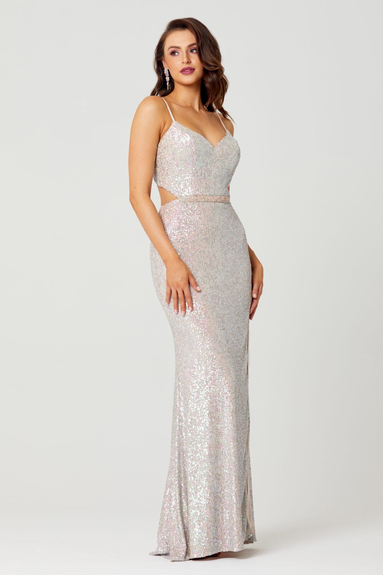 Jasmine Sequin Formal Dress PO853 Side