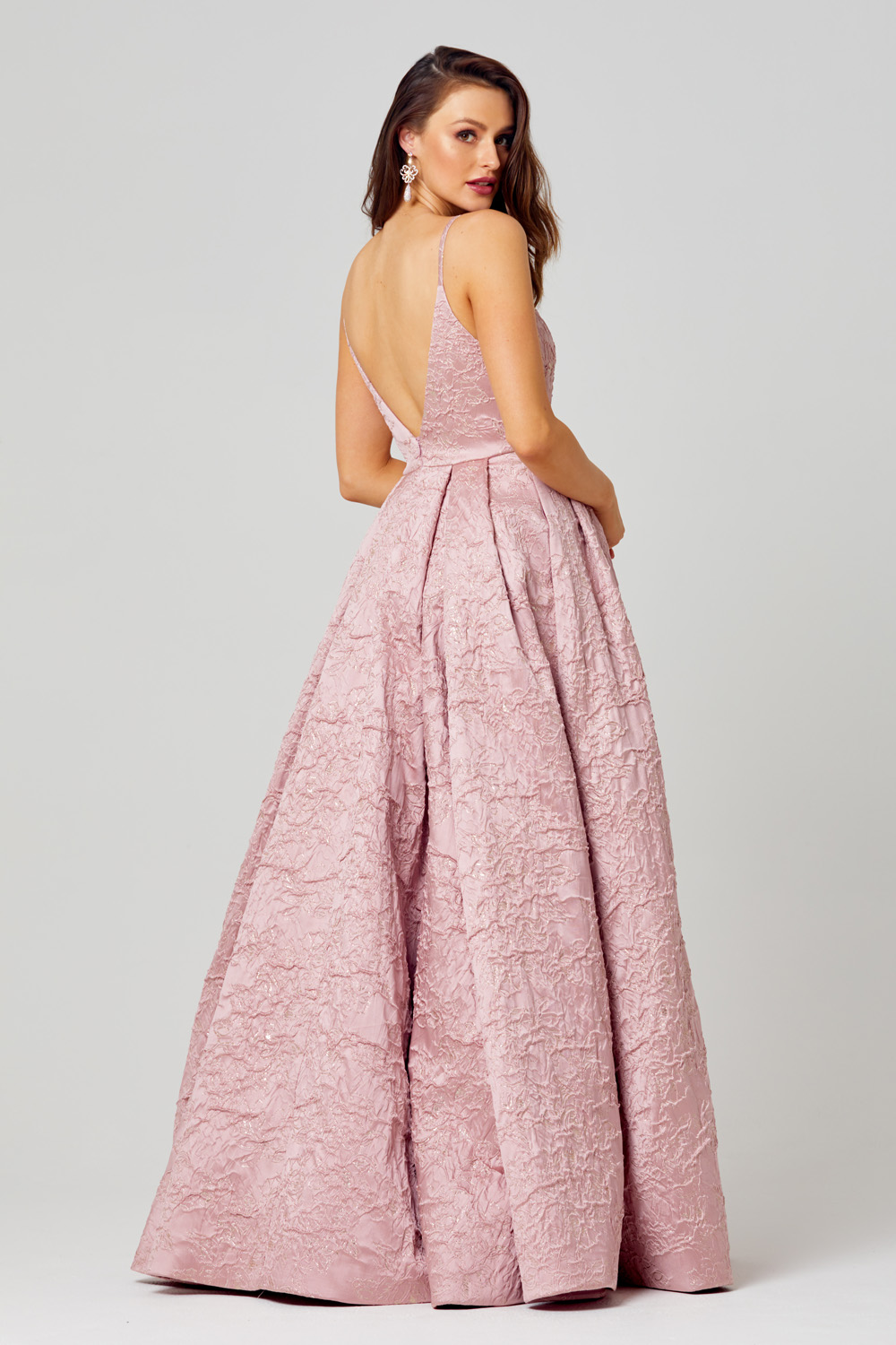 PO812 Rosa formal dress back angle