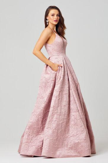 PO812 Rosa formal dress side angle