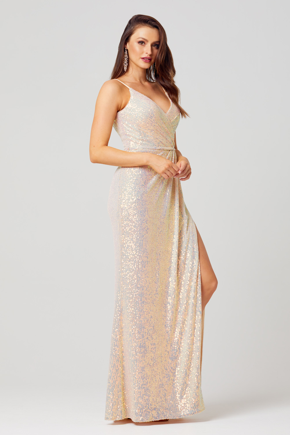 PO831 Danni formal dress side angle