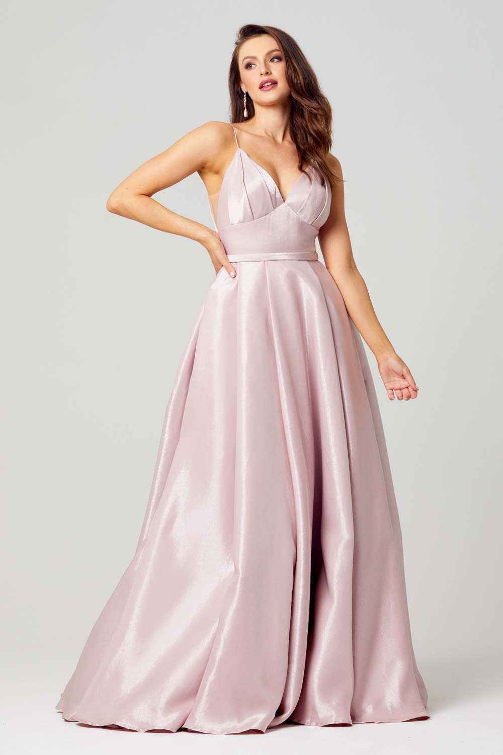PO834 Leia Formal dress front angle