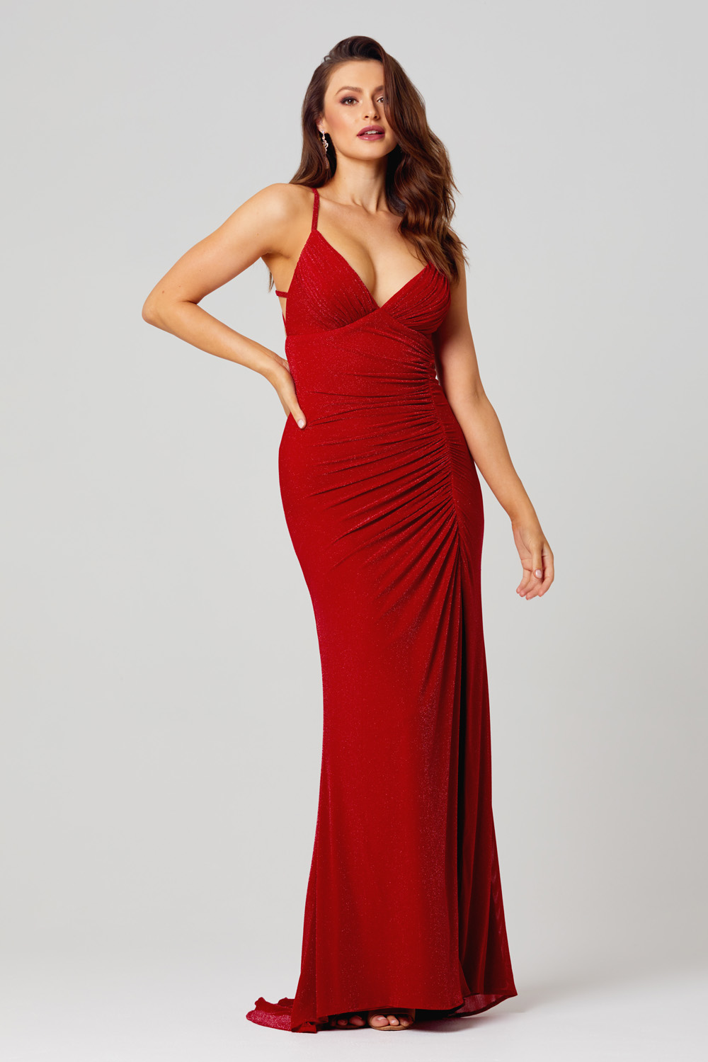 PO846 Maria evening dress front