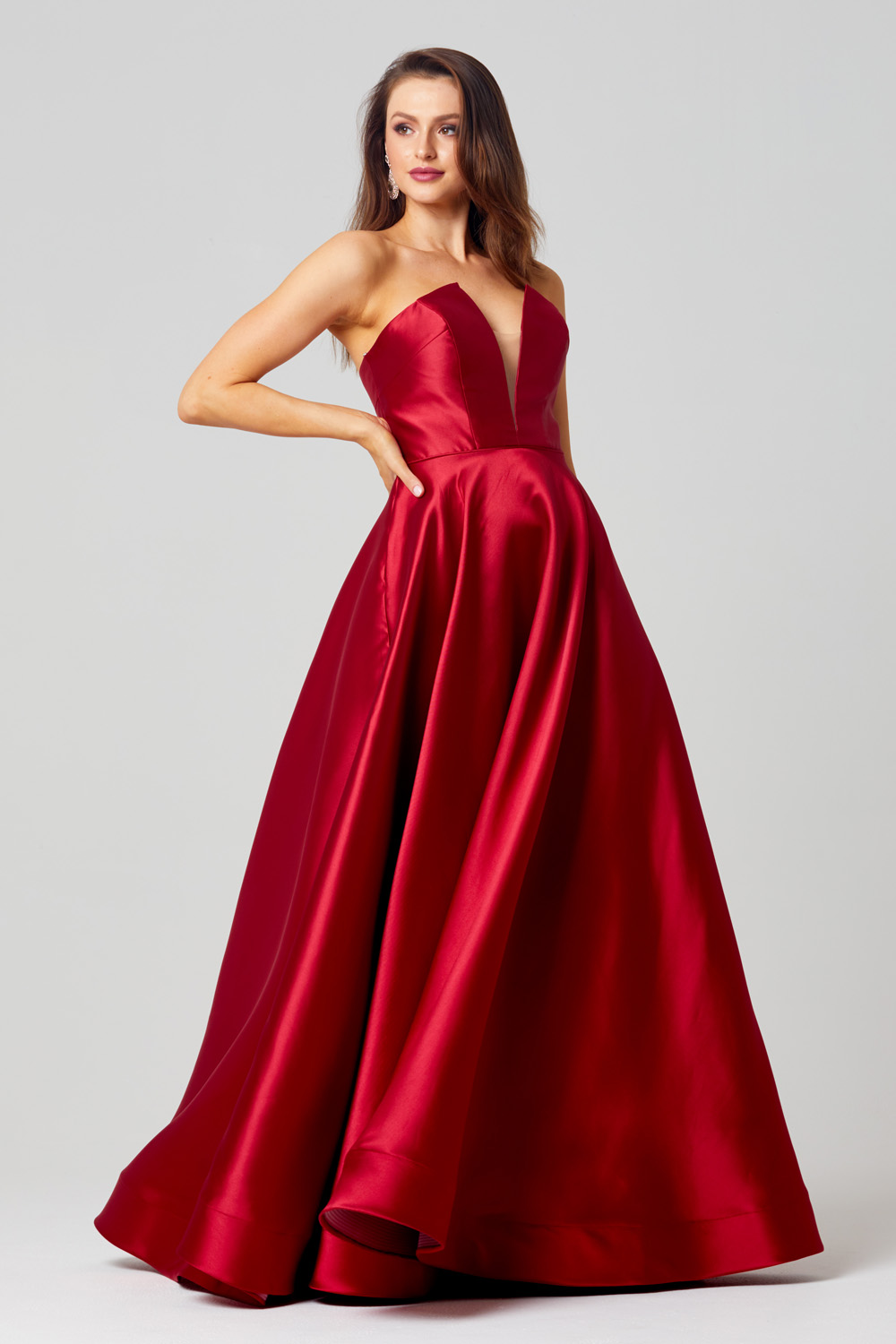 PO852 Emma formal dress side angle