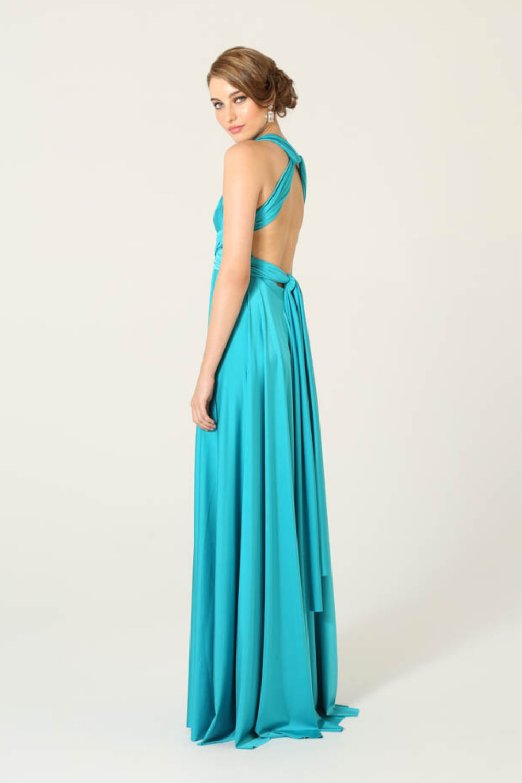 PO31 wrap dress aqua