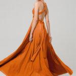 PO31 wrap dress burnt orange