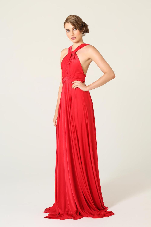 PO31 wrap dress red