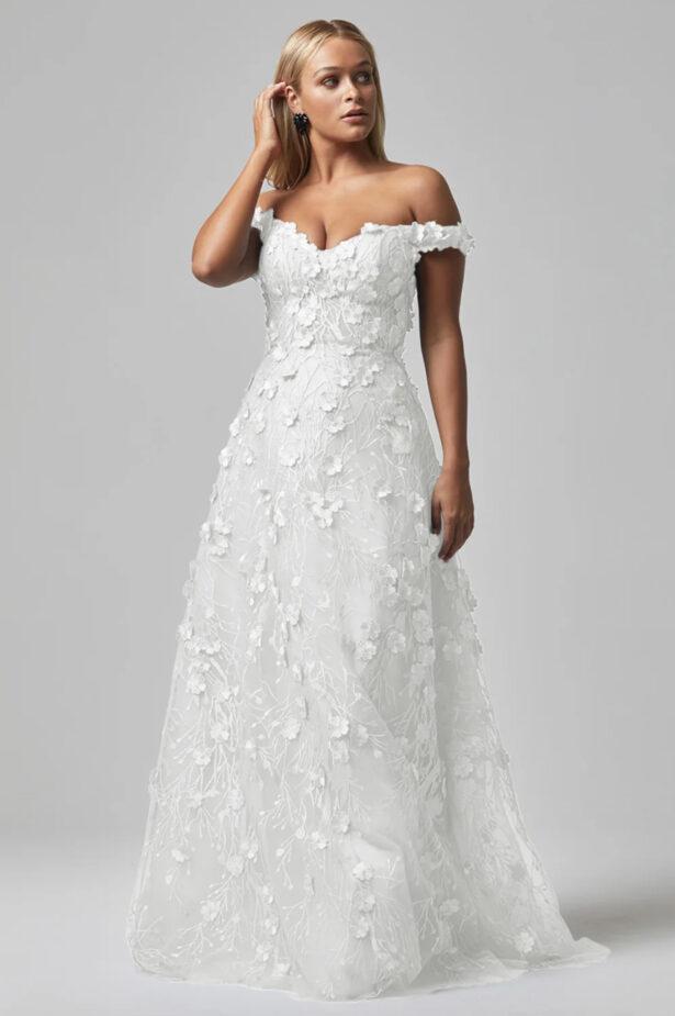 Poppy Evening Dress Vintage White TC249