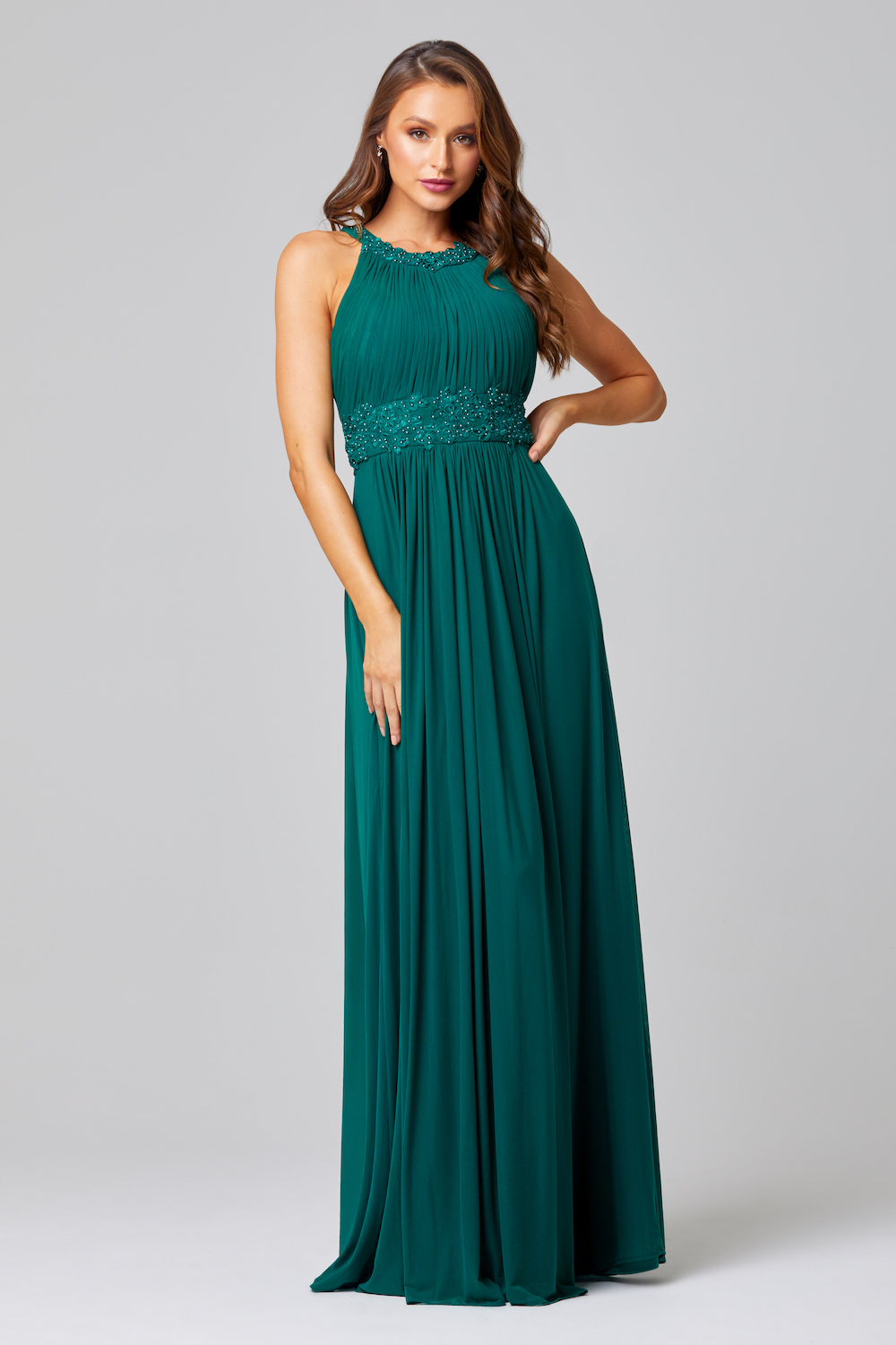 Bonita Bridesmaid Dress TO71 Emerald Front
