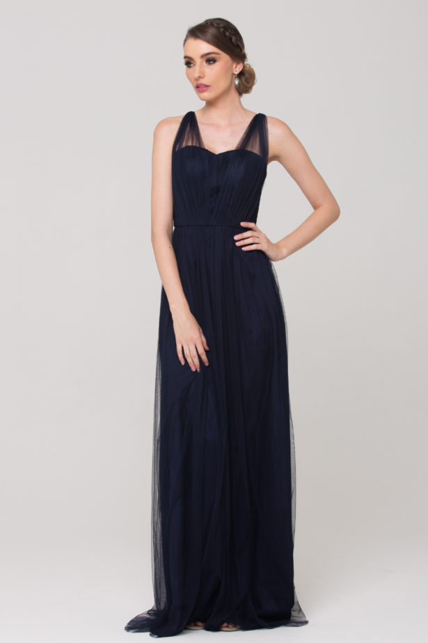 Sammy Bridesmaid Dress PO75 Navy Front 1 1
