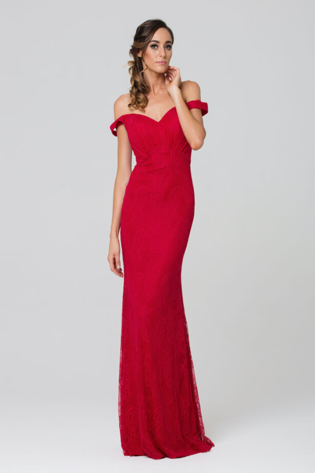 Whitney Bridesmaid Dress TO73 red