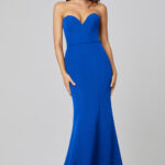 Lacie Strapless Mermaid Evening Dress PO886 Cobalt