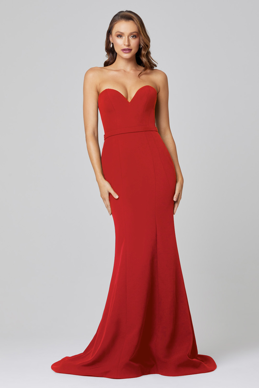 Lacie Strapless Mermaid Evening Dress PO886 Red