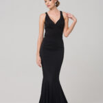 MAKENA FORMAL DRESS PO585 BLACK FRONT