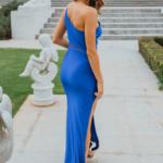 PO902 Beckley cobalt formal dress back