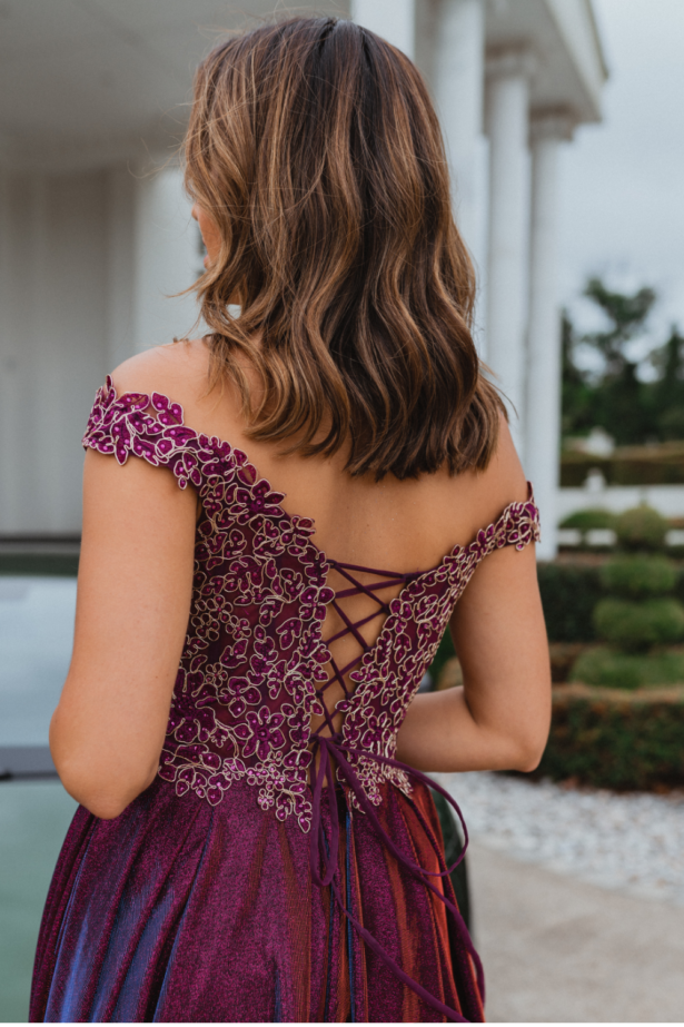 PO918 Bristol formal dress back
