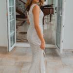TO857 Alexandria bridesmaid dress silver back
