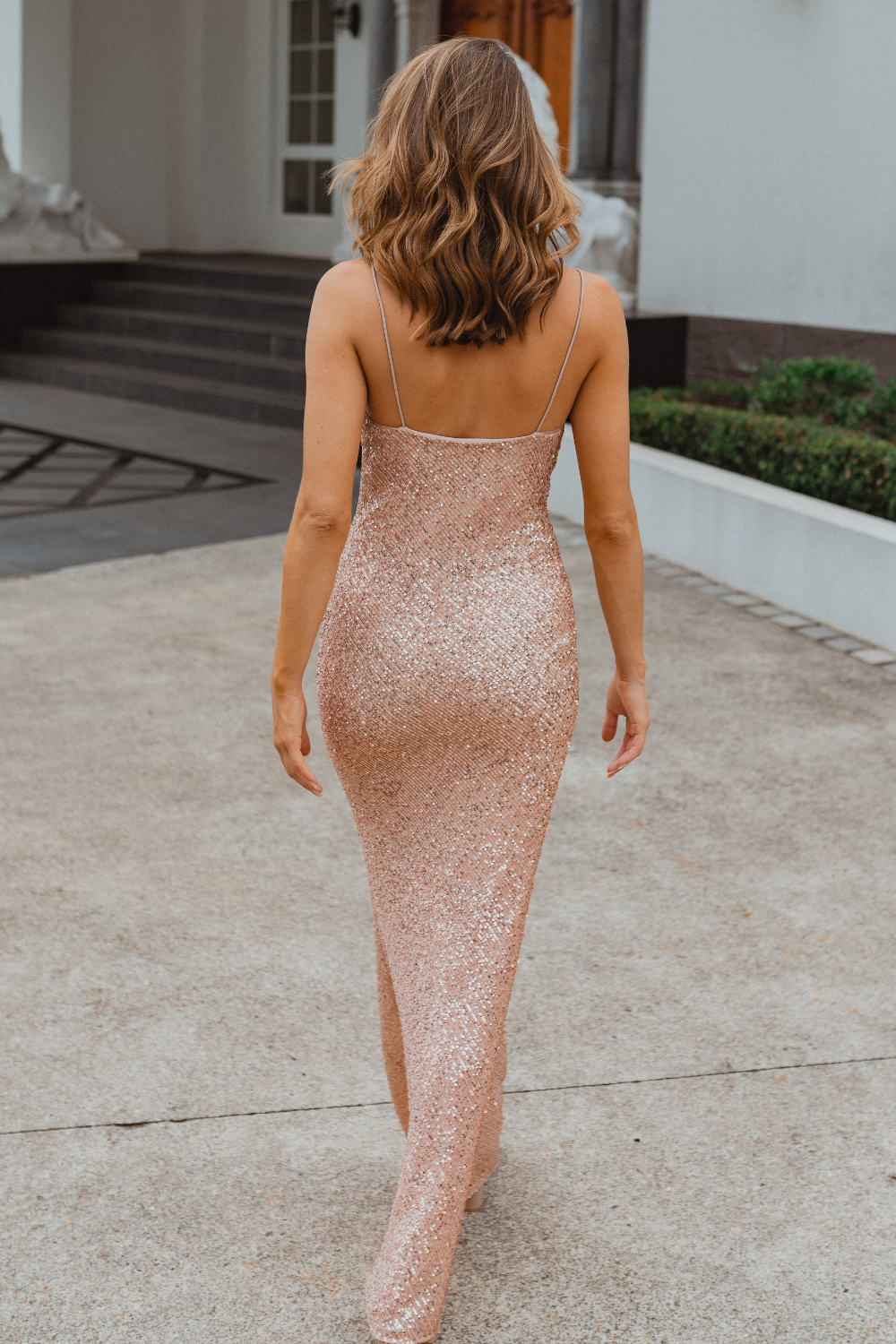 TO860 Sydney bridesmaid dress back in rose