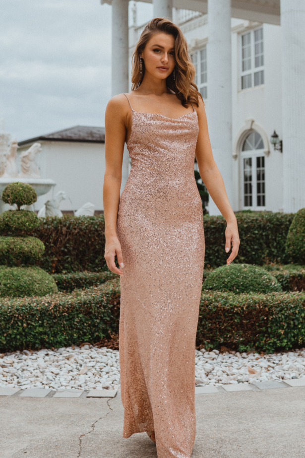 TO860 Sydney bridesmaid dress in rose front