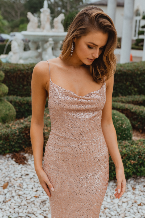 TO860 sydney bridesmaid dress in rose