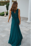 TO871 novara pine bridesmaid dress back