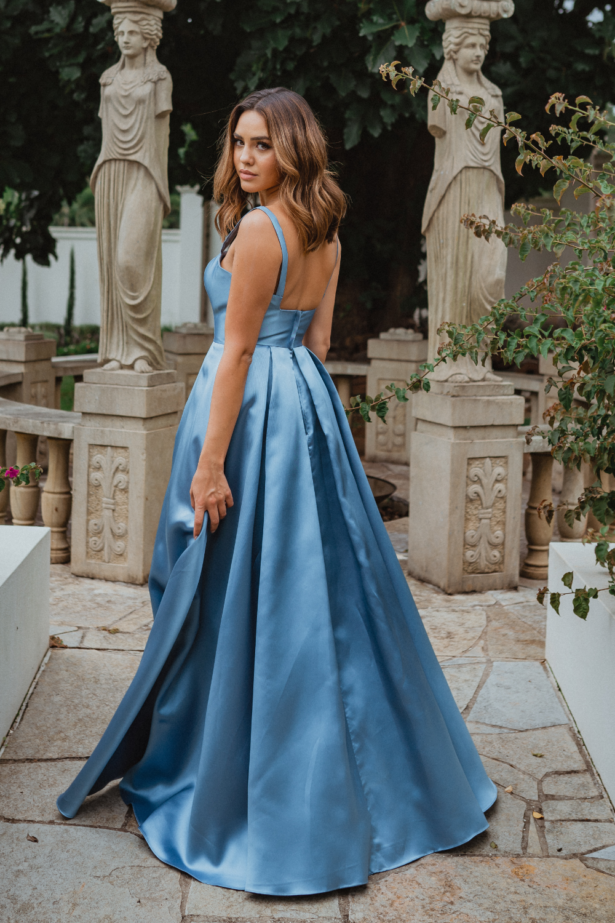 Tulsa PO911 blue formal dress back
