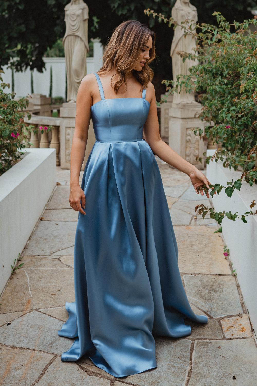 Tulsa PO911 formal dress side front blue